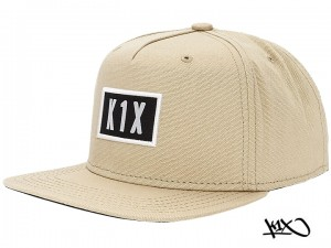K1X Straight Up Snapback Cap beige