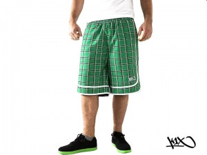 Kraťasy K1X Check It Out green/black