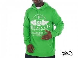 Mikina K1X High As A Kite green/white